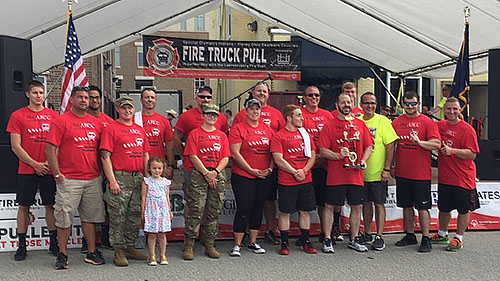 Members of the 2018 Special Olympics Fire Truck Pull.