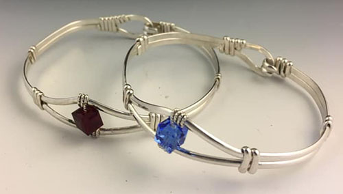 Bend in the River Bracelets, made specially to commemorate the Aurora, Indiana bicentennial.