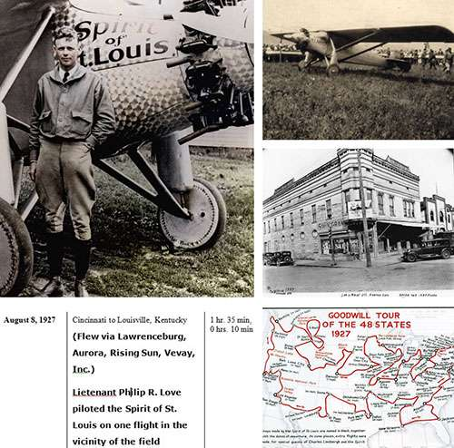 Charles Lindbergh and the tour of the Spirit of St. Louis.