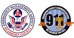 Dearborn County Emergency Management logo.