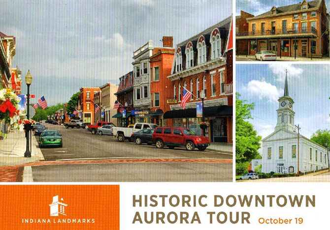 Ad for Historic Downtown Aurora Walking Tour.