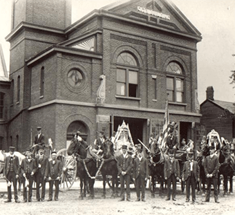 Members of the Aurora Fire Department, 1907.