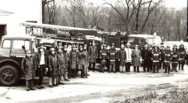 Members of the Aurora Fire Department, 1960's.