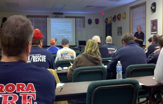 Fire training meeting.