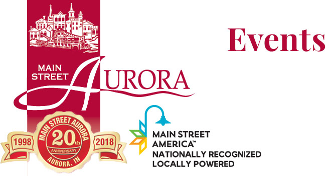 Main Street Aurora page title card - Events.