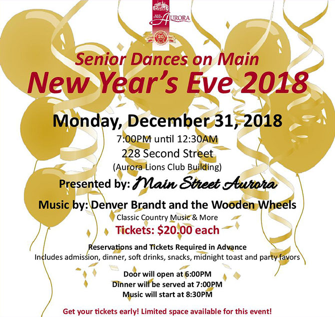 New Year's Eve Dance flyer.
