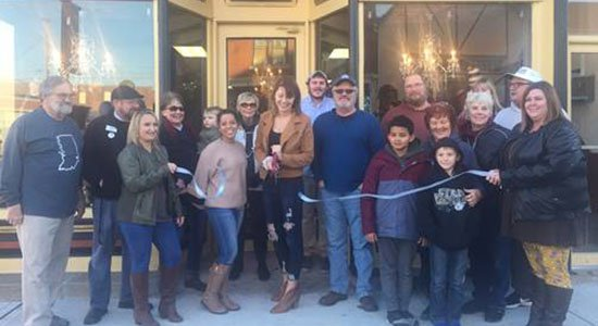 1819 Boutique ribbon cutting in Aurora, Indiana.