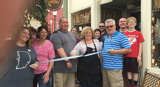 Wellingtons Ice Cream Palace ribbon cutting in Aurora, Indiana.