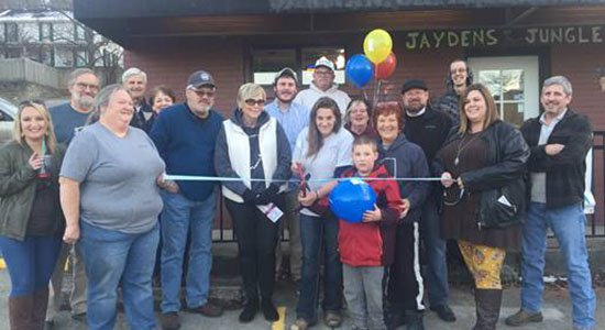 Jayden's Jungle Exotic Pets ribbon cutting in Aurora, Indiana.