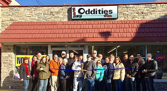 Oddities ribbon cutting in Aurora, Indiana.