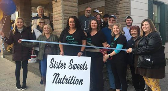 Sister Sweets Nutrition ribbon cutting in Aurora, Indiana.