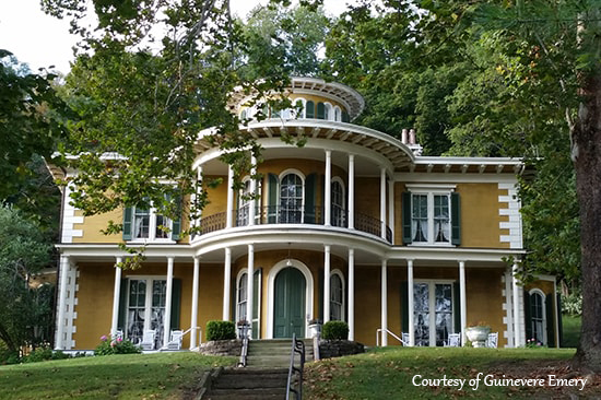 Hillforest Mansion in downtown Aurora, Indiana.