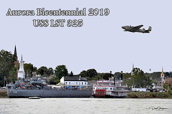 LST 325 landing with B-52 flyover, Aurora, Indiana.