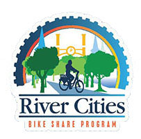 River Cities Bike Share Program logo.