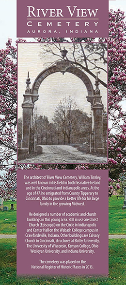 River View Cemetery pamphlet cover.
